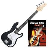 Rocktile Punsher E-Bass Schwarz SET+ Noten + CD