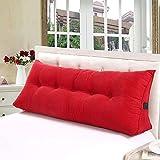 Vercart Wedge Pillow Bed Wedge Pillow Sofa RückenlehneKopfkissen,Keilkissen, Rückenkissen, Fernsehkissen, Ergokissen weich und bequem aus softer Microfaser, waschbar, Rot