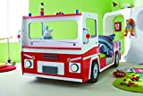 Demeyere 3224 Feuerwehrbett SOS 112, MDF, 90 x 190-200 cm, rot / weiß