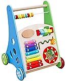 The Cuddle - Spiel- und Laufwagen aus Holz, natürliche Lauflernhilfe für Babys und Kinder,...