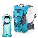 Overmont 10I Wasserdicht Fahrradrucksack Trinkrucksack mit 2I Trinkblase Trinkbeutel für Frauen Männer Wandern Klettern Radsport Camping Trekking Outdoor Sports