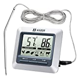 Habor Grill Thermometer Ofen Bratenthermometer Garten Thermometer Digital Thermometer mit großem...