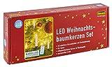 Idena 8582090 - Mini LED Christbaumkerzen 10er Set warmweiß, kabellos, batteriebetrieben