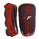 4Fighter PAO Kick- und Thai Pad Pratzen/ Handpratzen aus LEDER schwarz-rot