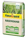 Floragard Rasen-Sand 15 kg für 10m², zur Rasenpflege und Lüften schwerer Böden, streuwagenfähig