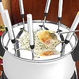Homdox Käse Fondues Edelstahl Fonduetopf Fleischfondue für 8 Personen Inkel 8 x Fonduegabeln Fondue Set 1500W Schwarz