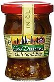 Casa Deliziosa Sardellenfilets in Sonnenblumenöl mit Chili Glas, 2er Pack (2 x 90 g)