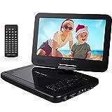 10.5' Tragbarer DVD-Player mit Wiederaufladbarer Batterie, 1024*600 Digital TFT Schwenkbaren...