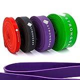 STRONGEAR Premium Pull Up & Fitnessbänder mit digitaler Übungsanleitung - Klimmzug- und...