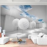 Fototapete 3D - Blau 352 x 250 cm Vlies Wand Tapete Wohnzimmer Schlafzimmer Büro Flur Dekoration...