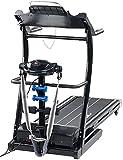 Newgen Medicals Laufband mit Massageband: 2in1 Profi-Laufband LF-412.multi mit Fitness-Station und...