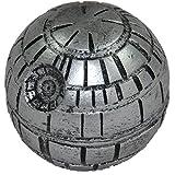 HighSupply® Death Star Weed Grinder, Todesstern Crusher, Star Wars Design Siebgrinder 3-Teilig, Metall-Gewürzmühle, Fein/Pollenfilter, Reinigungspinsel, Silbergrau