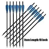 Milaem Carbon Armbrustpfeile,18 Zoll 20 Zoll 22 Zoll Bolzen für Armbrust bis 150 lbs,12 Bolzen per...