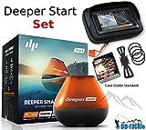 Deeper Start Sonar Wifi Echolot + Smartphone Halterung + Case S Fishfinder zum Auswerfen