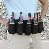 HENGSONG 6 Flaschen Bier Biergürtel Outdoor Kletterrucksack zu tragen Getränke Biergürtel...