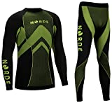 THERMOTECH NORDE Herren Funktionswäsche Thermoaktiv Atmungsaktiv Base Layer SET Outdoor Radsport...