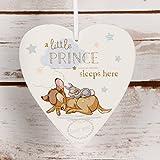 Disney Herz Plaque Little Prince sleeps here Baby Boy Geschenk
