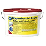Pufas Ölsperrbeschichtung Betonfarbe Fußbodenfarbe 5L rotbraun (ca. RAL 8012)