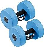 BECO Aquahanteln | 1 Paar - 2 Stück - Schaumstoffhanteln für Wassergymnastik Fitnesshanteln...