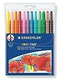 Staedtler Noris Club 221 NWP12 Wachs-Twister, Wachs-Malstifte, Set mit 12 brillante Farben