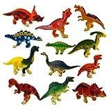 Aigoode Pädagogische realistische Dinosaurier Spielzeug Set Kinder Kunststoff Dinosaurier-Figur...