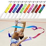 10 x Gymnastik Bänder Rhythmische Tanz Streamer Stab Baton Twirling Kunst Fitnessstudio Band von...