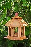 Vogelhaus & Futterstation,wetterfest HELLBRAUN LASIERT robust,stabil,Vogelhäuser,Futterhaus Vögel, für Vögel,