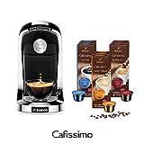 Tchibo SAECO Cafissimo TUTTOCAFFÈ Nero inkl. 90 Kapseln – Kaffeemaschine (für Kaffee, Espresso,...