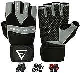 EMRAH Echtleder Ultraleicht Fitness Handschuhe Trainingshandschuhe mit Adjustable Handgelenkstütze...