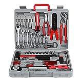 FIXKIT Werkzeugset im Koffer Werkzeugkoffer Werkzeugkasten f¡§1r den Haushaltsbereich Universal-Haushalts-Werkzeugkoffer (555 teilig)
