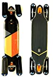 Snow RAM Longboard Solitary 2.0 drop-through + Fuse 4 x 4 Snowblades Blau (Orange)