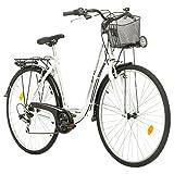 Multibrand Probike 28 City Zoll Fahrrad 7-Gang urbane Cityräder For Heren, Damen, Unisex Schwarz...