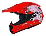 ATO-Helme Kids Pro Kinderhelm Crosshelm Schutzhelm Motorradhelm Quadhelm Kinder Cross BMX Helm (S...