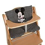 Hauck Hochstuhlauflage Deluxe Sitzpolster Mickey grey
