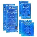 COM-FOUR® Sparpack Mehrfachkompresse 3 verschiedene Größen kalt & warm - Mikrowellen geeignet (2x Klein, 2x Mittel, 2x Groß)