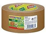 tesapack Paper Packband mit ecoLogo / Starkes und reißfestes Paketband von tesa in Braun / 50 m x 50 mm
