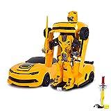 RC ferngesteuertes Roboter-Auto, Transformation per Knopfdruck, 2,4GHz, Komplett-Set RTR inkl....