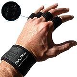 Trainingshandschuhe mit Handgelenkbandage & Handflächenschutz von Emerge – Fingerlose Cross...