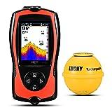 LUCKY Wireless Tragbarer Fisch-Finder Sonar Fisch Finder für Boot, Meer, Fluss, Ice Fischen...