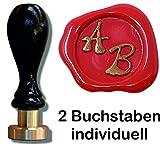 Siegel Stempel Petschaft in der Schriftart Squiggle 24 mm 2 Initialen 8,2 cm - Eine tolle Geschenkidee um etwas persönliches zu schenken