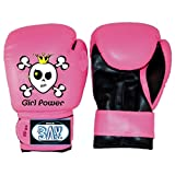 BAY GIRL POWER (6 Unzen) pink posa Kinder Boxhandschuhe 4 6 8 10 Unzen SWEET SKULL Mini...