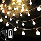 B-right 100 LEDs Globe Lichterkette, LED lichterkette warmweiß, Globe String Licht Sternenlicht mit...