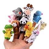 Acefun 10 Stück Weiches Plüsch Tiere Fingerpuppen Set Samt Tiere Kinder Lernspielzeug Baby...
