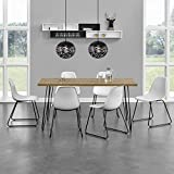 [en.casa] Esstisch - Küchentisch Eszimmer Tisch Hairpin-leg - 160cm x 70cm x 75cm - Holzfarben