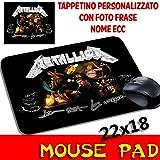 Maus Pad Metallica Personalisierte Mauspad mit Foto, Logo
