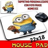 Maus Pad Minions bananatappetino Maus personalisierbar mit Foto, Logo etc