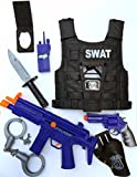Brigamo 47355 - ⚉ Kinder SWAT Polizei Kostüm, Polizei Uniform perfekt für Fasching, Karneval oder Halloween ⚉