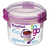 Sistema To Go Frühstücksbehälter kompakt, 530ml, transparent/pink