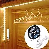 LED Schrankbeleuchtung,LUXJET 45LED 150cm LED Streifen,BatterieBetrieben Nachtlicht,3500K Warmweiß...