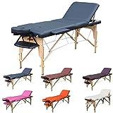 H-ROOT 3 Zonen Massagetisch Leichtes tragbares Couch Bett Sockel Therapie Tatoo Salon Reiki Healing...